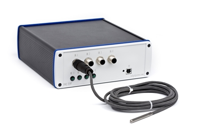 Picture of 4-channel temperature regulator system
