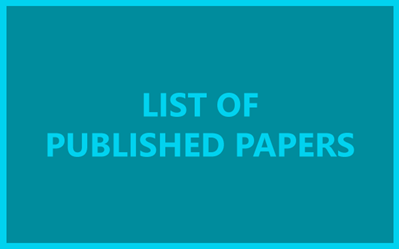 List of Published papers… UPDATES